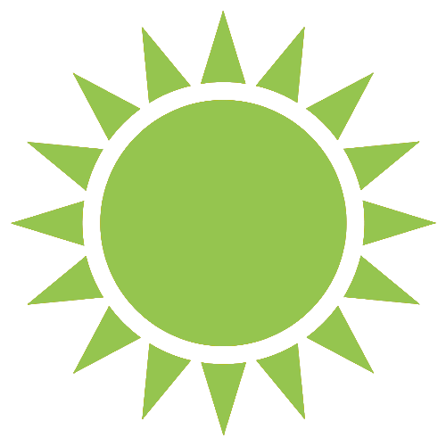 blue solar icon
